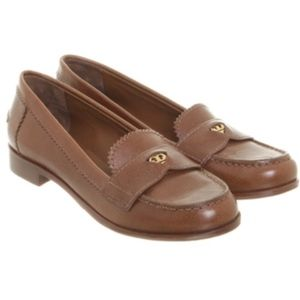 "Tory Burch ""Pennie"" Penny Loafer Brown"